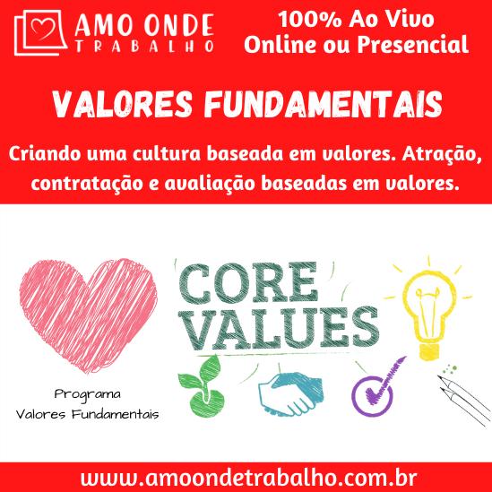 Capacitação Valores Fundamentais