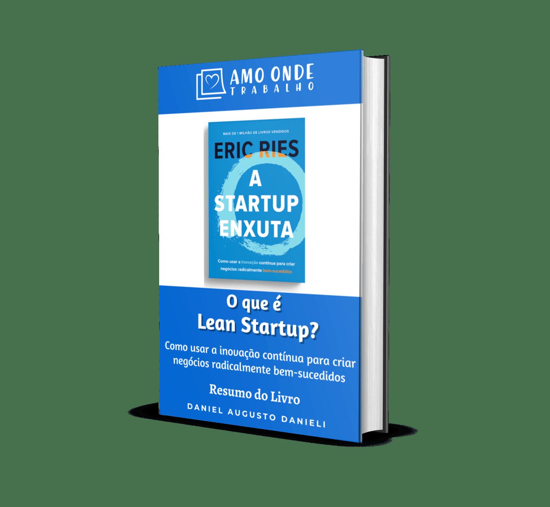 Ebook Lean Startup Capa - Amo Onde Trabalho